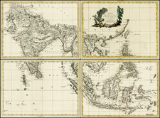 China, India, Southeast Asia, Philippines and Other Islands Map By Antonio Zatta