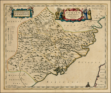 China Map By Johannes Blaeu