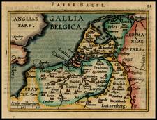 Netherlands Map By Abraham Ortelius / Johannes Baptista Vrients