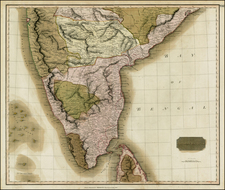 India & Sri Lanka Map By John Thomson