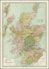 Scotland Map By T. Ellwood Zell