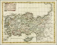 Turkey, Mediterranean, Balearic Islands and Turkey & Asia Minor Map By Antonio Zatta