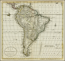 South America Map By William Guthrie