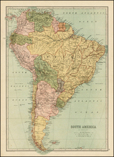 South America Map By T. Ellwood Zell