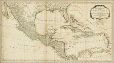 Florida, Texas, Mexico, Caribbean and Central America Map By Laurie & Whittle