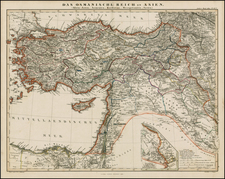 Middle East, Holy Land and Turkey & Asia Minor Map By Adolf Stieler