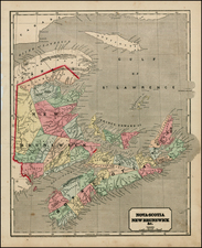 Canada Map By Sidney Morse / Samuel Gaston