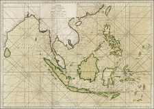 China, India, Southeast Asia, Philippines and Other Islands Map By William Herbert