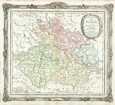 Europe and Czech Republic & Slovakia Map By Louis Brion de la Tour