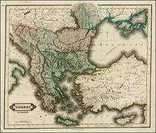 Balkans, Greece, Turkey and Turkey & Asia Minor Map By Daniel Lizars