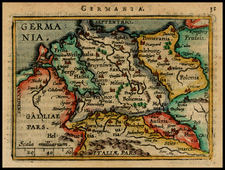 Netherlands, Germany, Austria, Poland and Czech Republic & Slovakia Map By Abraham Ortelius / Johannes Baptista Vrients