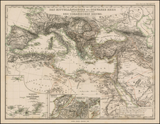 Balkans, Turkey, Mediterranean, Central Asia & Caucasus, Middle East and Turkey & Asia Minor Map By Adolf Stieler
