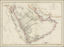 Middle East Map By Edward Weller