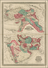 Other Islands, Central Asia & Caucasus, Middle East, Holy Land and Turkey & Asia Minor Map By Alvin Jewett Johnson