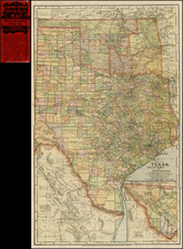Texas and Plains Map By Matthews-Northrup & Co.