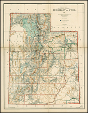 Southwest and Rocky Mountains Map By U.S. General Land Office
