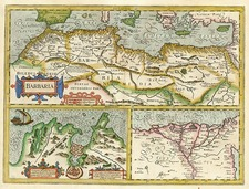 Africa and North Africa Map By Henricus Hondius