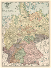 Germany Map By William Rand  &  Andrew McNally