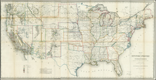 United States Map By U.S. General Land Office