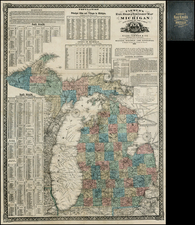 Midwest Map By Silas Farmer & Co.