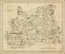 British Isles Map By John Stockdale