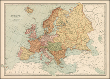Europe and Europe Map By T. Ellwood Zell