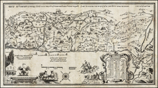 Holy Land Map By Abraham Bar Yaaqov