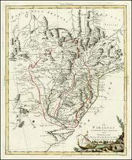 South America and Brazil Map By Antonio Zatta