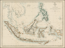 Southeast Asia, Philippines and Other Islands Map By Edward Weller