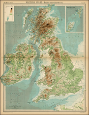 British Isles Map By Times Atlas