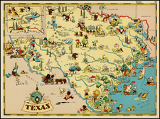Texas Map By Ruth Taylor White