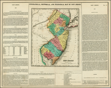 New Jersey Map By Henry Charles Carey  &  Isaac Lea