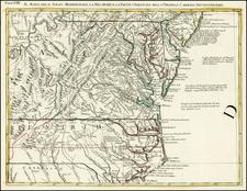 Mid-Atlantic and Southeast Map By Antonio Zatta