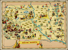Plains and South Dakota Map By Ruth Taylor White
