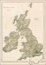 British Isles Map By Edward Weller