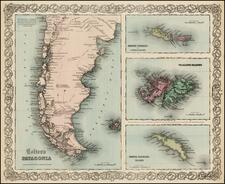 South America Map By G.W.  & C.B. Colton