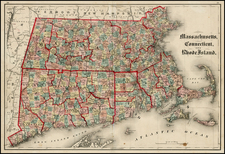 New England Map By J. David Williams