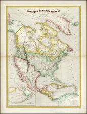 Texas, North America and California Map By Charles V. Monin