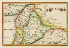 Middle East and Holy Land Map By Christoph Cellarius