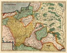 Europe, Germany, Poland, Russia and Baltic Countries Map By Abraham Ortelius