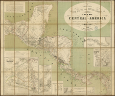 Mexico and Central America Map By Heinrich Kiepert