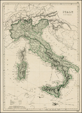 Italy Map By John Dower