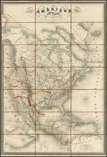United States, Texas, Southwest, Rocky Mountains, North America and California Map By Adolphe Hippolyte Dufour