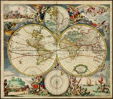 World, World and Polar Maps Map By Justus Danckerts
