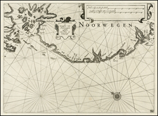 Norway Map By Willem Janszoon Blaeu