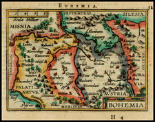 Czech Republic & Slovakia Map By Abraham Ortelius / Johannes Baptista Vrients