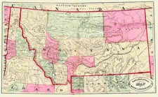 Plains and Rocky Mountains Map By HS Stebbins