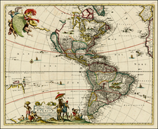 North America, South America, Australia, New Zealand and America Map By Covens & Mortier