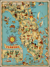 Florida Map By Ruth Taylor White