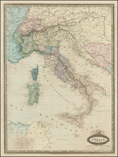 Europe and Italy Map By F.A. Garnier